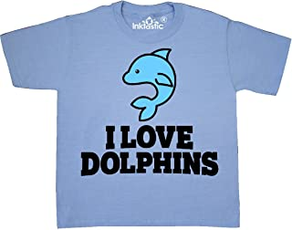 inktastic I Love Dolphins Youth T-Shirt