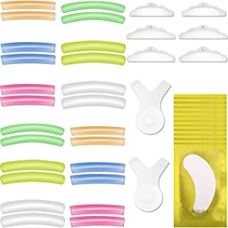 44pcs Eyelash Perming Curler Shield Pads Kit, 12 Pair 6 Sizes Lash lift Pads Silicone 12 Pack Eye Gel Pad Patches with 2 P...