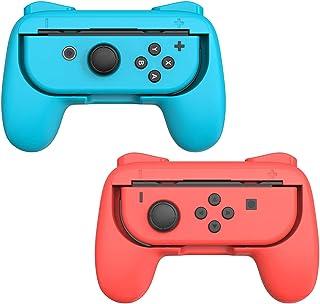 Punhos para Nintendo Switch Joycon Controller (2 unidades) - Acessórios para jogos Joy-Con Joystick portátil Suporte para ...