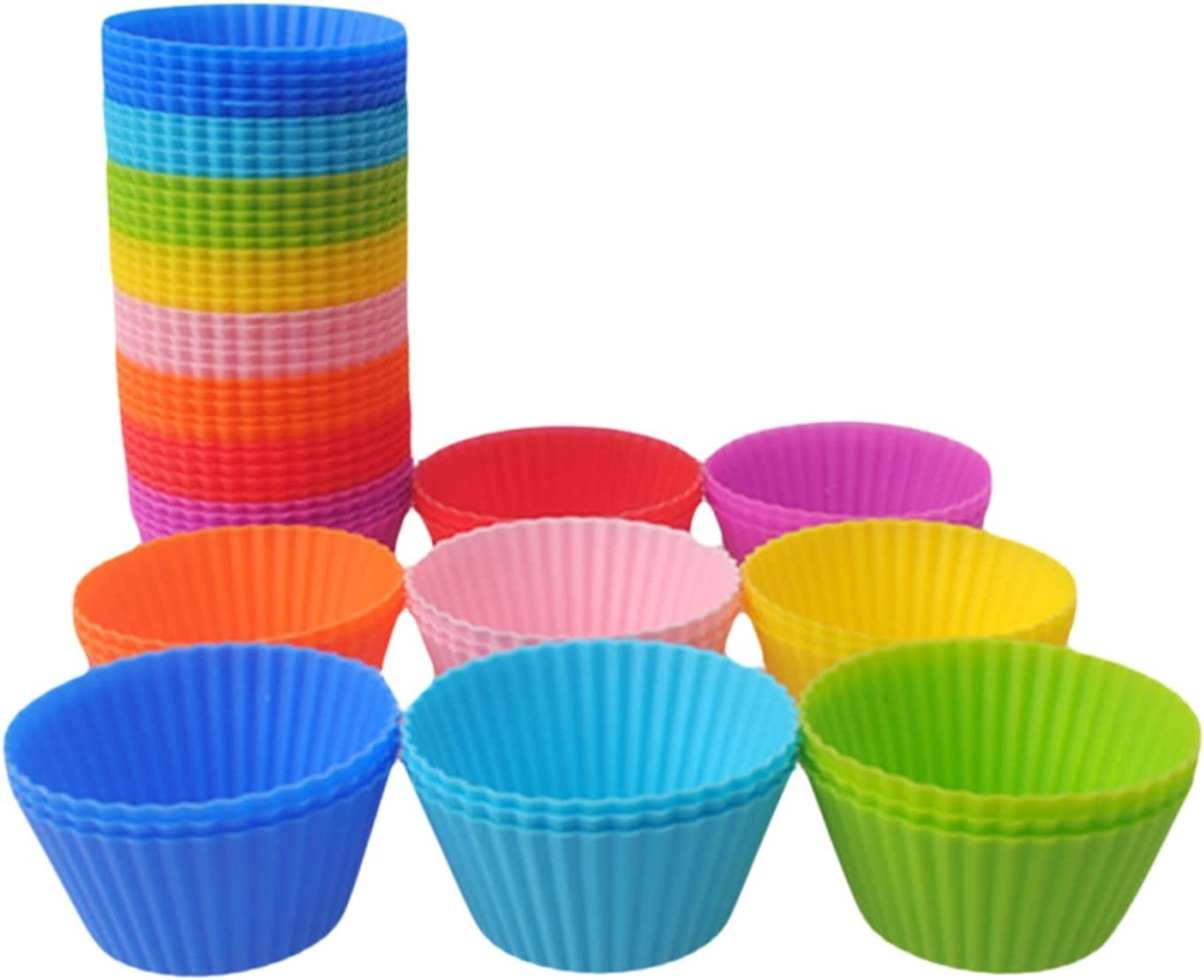 Pastry Cup 20 12 Max 52% OFF 8Pcs Silicone online shop Baking Mu Liner Mold Cake
