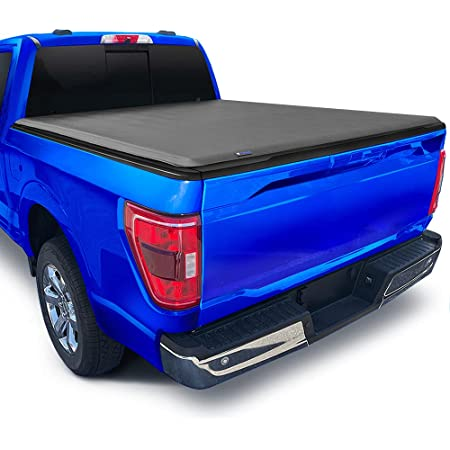 """Tyger Auto T1 Soft Roll Up Truck Bed Tonneau Cover Compatible with 2015-2022 Ford F-150 