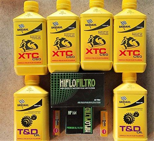 KIT TAGLIANDO 4 LITRI BARDAHL 10W40 T&D FILTRO OLIO ARIA CANDELE R 1200 S