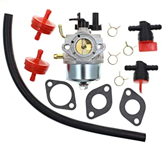 Carbhub 801396 Carburetor CCR2450 Carburetor for Briggs & Stratton 801233 801255 Toro Power Clear R-TEK 2 Cycle CCR2400 CCR2450 CCR2500 CCR3000 CCR3600 CCR3650 Snowblower with Fuel Filter Line Valve