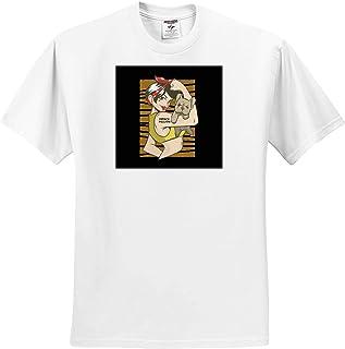 Adult T-Shirt XL ts/_319026 Merry Christmas Xmas with Santa Claus and Tree Snow 3dRose Sven Herkenrath Christmas