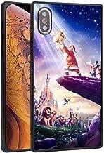DISNEY COLLECTION Square Phone Case Fit Apple iPhone X (2017) and iPhone 10 (2017) and iPhone Xs (2018) [5.8 Version] Disneyland Paris El Rey Leon