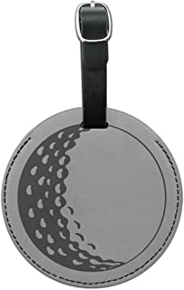 Graphics & More Ball Golfing Golfer Round Leather Luggage Id Tag Suitcase Carry-on, Black
