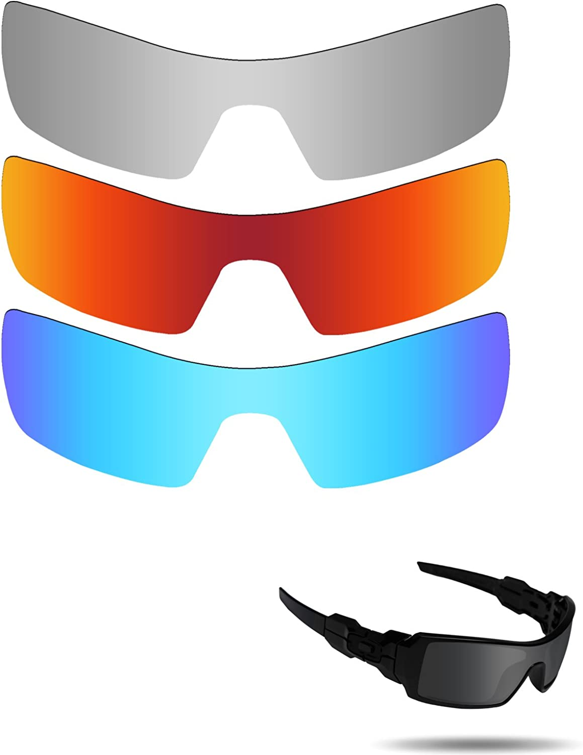 Fiskr 正規認証品 お気に入 新規格 Anti-saltwater Polarized Replacement Oakley Lenses Oil for