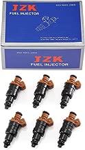 JZK Fuel Injectors 6pcs/Set 812-11114 33007127 for Jeep Wrangler YJ 1991-1993 Jeep Cherokee XJ 1991-1993