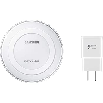 Samsung Qi Certified Fast Charge Wireless Charging Pad with 2A Wall Charger -Supports wireless charging on Qi compatible smartphones including the Samsung Galaxy S8, S8+, Note 8, Apple iPhone 8, iPhone 8 Plus, and iPhone X (US Version) - White