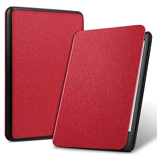 ELTD Funda Carcasa para Nuevo Kindle (10th Generation 2019 Release), Ultra Delgado Fundas Duras Cover Case para Kindle E-Reader 2019, (Rojo)