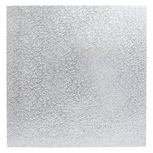 FunCakes Cake Board-quadratischer, silberfarbener Kuchenteller, ca. 27,5 x 27,5cm, Papier