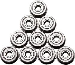 CHENBO 10Pcs F623ZZ Flange Bushing Ball Bearings 3x10x4mm Mini Metal Double Shielded Flanged Ball Bearings