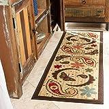 Ottomanson Sara's kitchen runner rug, 20'X59', Beige Paisley