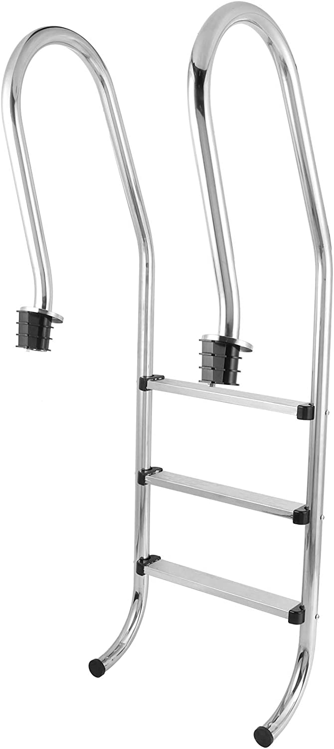 Nannigr Seasonal Wrap Introduction 3‑Step Ladder Stainless Lad Steel excellence Pool