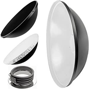 PIXAPRO 70cm 27    White Beauty Dish for Profoto with Removable Honeyc...