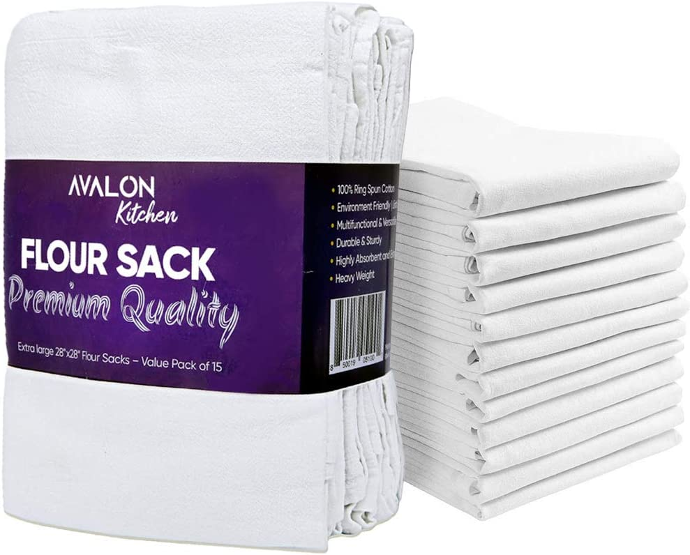 Avalon Kitchen Flour Sack Dish Towels of Value Ultra-Cheap Deals Pack 15 Free shipping / New –