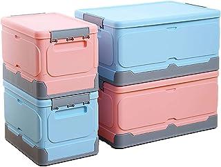 ZYYPLIFE Boîte de Rangement Pliable avec Couvercle, boîte de Rangement pour vêtements, empilable et Peu encombrante, Peut ...