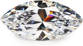 50PCS Size 5x10mm AAAAA White Marquise Shape Princess Cut Europe Machine Cut Loose CZ Cubic Zirconia Gemstone JIANGYUANGEMS
