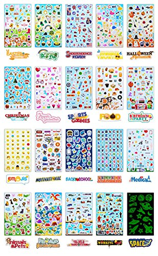 Personalized Arts and Crafts by Kidsco KCO Brands Wall Decals Assorted Word Cutouts Sheets Party Favors Novelty Toys Creative Scrapbooks Superhero Stickers Roll for Kids Game Prizes