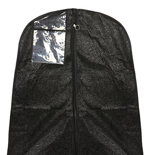 Simpson & Ruxton Hochzeit Ball Bademantel Muster, atmungsaktiv Brautschmuck Travel Carry Kleid Cover Tasche Aufbewahrung Displayschutzfolie, schwarz, 22