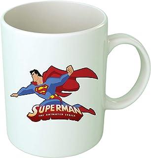 Upteetude Superman Coffee Mug - White