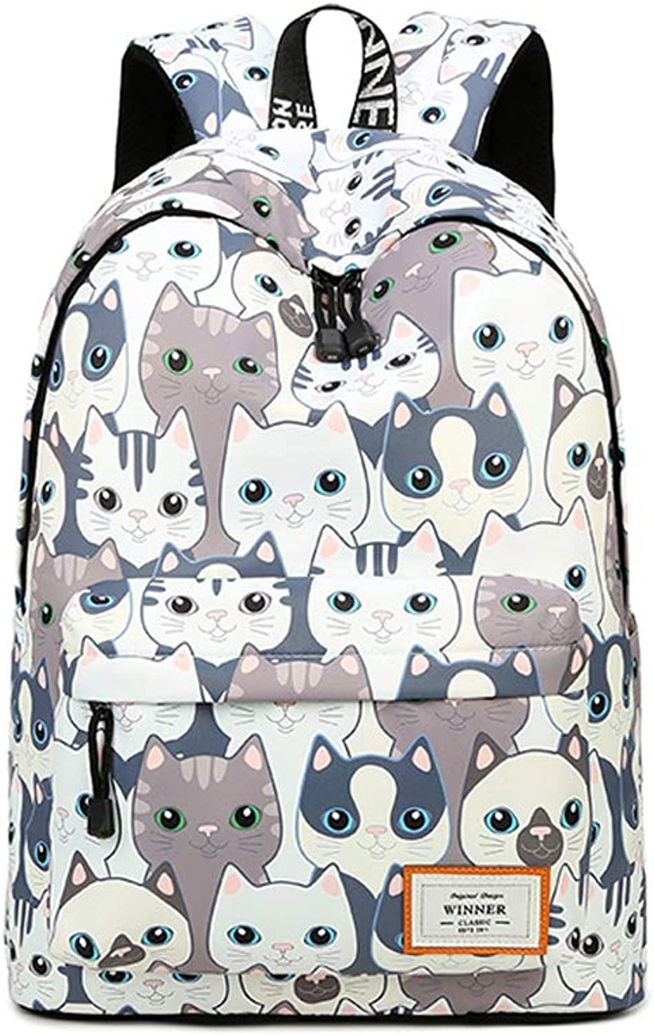 HLJ Personality Student Bag Fashion Large Capacity Travel Backpack Leisure Out Computer Bag (Size   40  30  13cm)