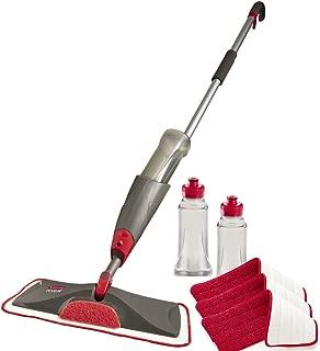 Rubbermaid Reveal Spray Mop Floor Cleaning Kit, Bundles: 1 Mop, 3 Multi Surface Microfiber Wet Mopping Pads, 2 Refillable Bottles (1892663)