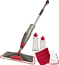 Rubbermaid Reveal Spray Mop Floor Cleaning Kit, Bundles: 1 Mop, 3 Multi Surface Microfiber Wet Mopping Pads, 2 Refillable ...