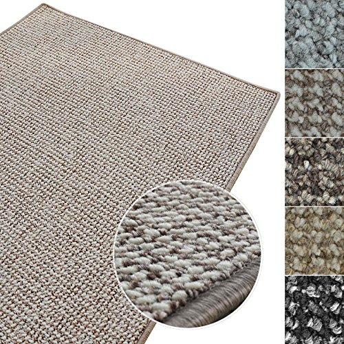 casa pura Kurzflor Teppich Carlton | Flachgewebe dezent Gemustert | robuster Schlingenteppich in vielen Größen | als Wohnzimmerteppich, Küchenteppich, Schlafzimmerteppich (Grau-Beige - 160x230 cm)
