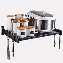 Rack de cocina Colgante de pared Soporte de horno de cocina Espacio de aluminio de una sola capa Rack Soporte de microondas