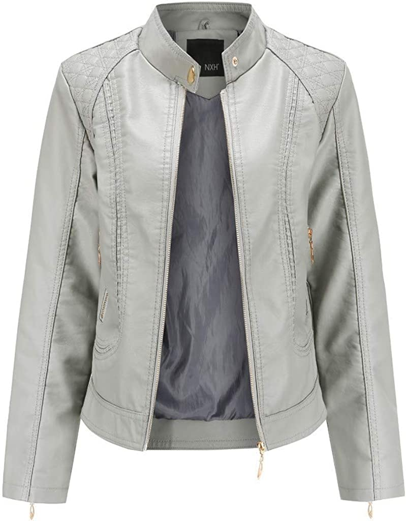 Womens Winter store Warm Short Coat Tops Zipper Max 41% OFF Leather Overcoa Jacket