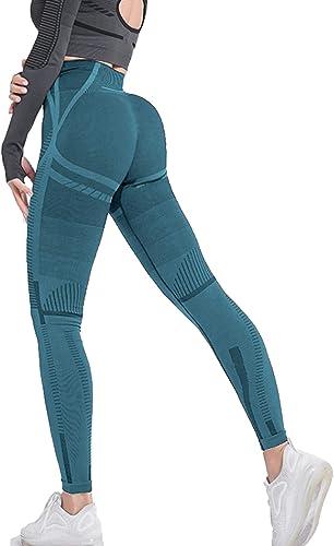 2021 RIOJOY sale Women Running Leggings Butt Lifting Scrunch Workout Compression High Waist Yoga new arrival Pants outlet sale