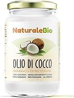 Olio di Cocco Biologico Extra Vergine 500 ml   Crudo e Spremuto a Freddo   Organico e Puro al 100%   Ideale sui Capelli,...