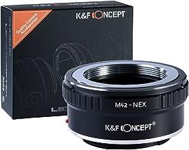 M42 to e mount, K&F Concept Lens Mount Adapter M42 Lens to Sony NEX E-Mount Camera for Sony Alpha NEX-7 NEX-6 NEX-5N NEX-5 NEX-C3 NEX-3