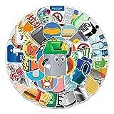 WYZNB 54 pz Classificazione della spazzatura Ins Sticker Notebook Sticker Scooter Auto Decorazione Graffiti Impermeabile Vinile Sticker