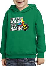 Haase Unlimited They See Me Rollin They Hatin' - Funny Toddler/Youth Fleece Hoodie