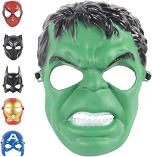 Christmas Mask Children's Mask Cosplay Boy Toy Avengers Movie for 3 4 5 6 7 8 9 10 Years Old Mask (Hulk)