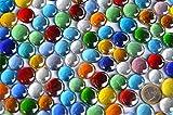 500g Glasnuggets transp. 15-21mm bunt Deko Mosaiksteine ca 120St - 2