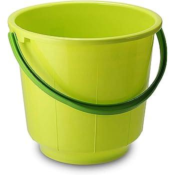 Kuber Industries Unbreakable Strong Plastic Bathroom Bucket 13 LTR (Green) -CTKTC037874