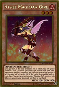YU-GI-OH! - Apple Magician Girl (MVP1-ENG15) - The Dark Side of Dimensions Movie Pack Gold Edition - 1st Edition - Gold Rare