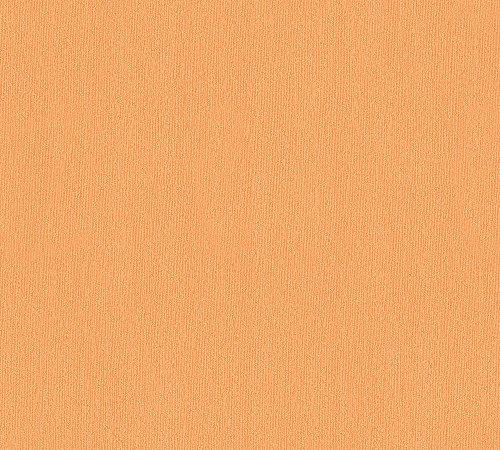 A.S. Création Vliestapete Del Sol Tapete Uni 10,05 m x 0,53 m orange Made in Germany 326567 32656-7