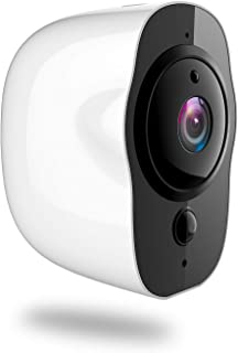 Battery Powered Security Camera, 1080P HD IP66 Rechargeable WiFi Security Camera Surveillance Clear Night Vision Alarm Mail or Telephone Remote App Control 32G TF Card Included (White)