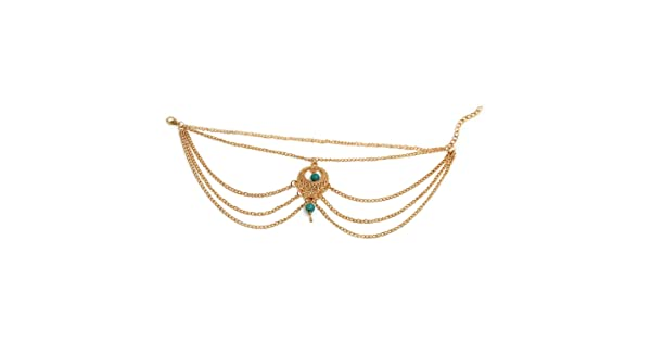 Gleamart Multi-layer Hollow Turquoise Beads Anklets Tassels Beach Sandals Barefoot Ankle Link Chains