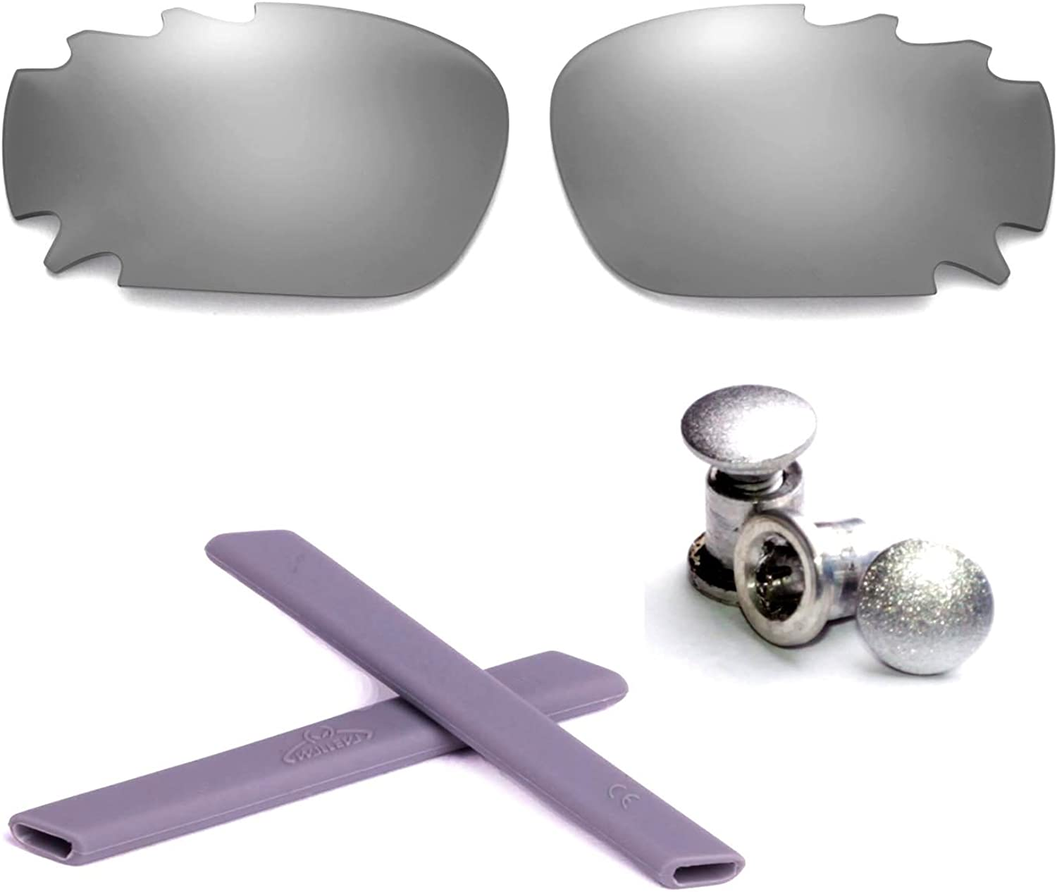 Phoenix Mall Free shipping on posting reviews Walleva Polarized Vented Lenses + Oakley Rubber for Jawbo Bolt