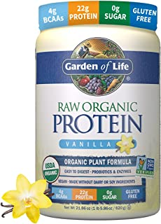 Garden of Life Raw Organic Protein Vanilla Powder, 20 Servings - Certified Vegan, Gluten Free, Organic, Non-GMO, Plant Bas...