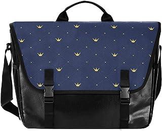 Bolso de lona para hombre y mujer, diseño retro, color azul
