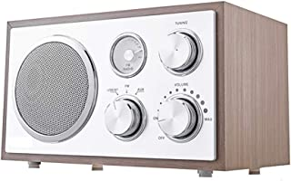 Radio Retro, FM Wireless Portable Digital Bluetooth Radio, Wooden Shell, AUX Input USB Playback, Wireless Bluetooth Stereo