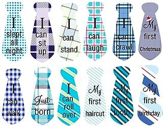 Bébé Mensuel Milestone Autocollants, 12 Bébé Mois Stickers Combinaison Stickers Photographie Accessoire, Grenouillère Stic...