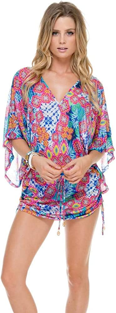 Luli Fama Beautiful Mess - Cabana V Neck Dress - M/Multicolor