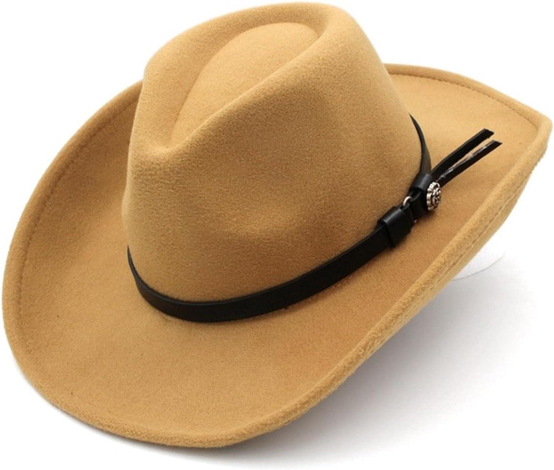 Super Credence sale Fashion Unisex Wool Blend Western Cowboy Cap Wid Hat Outdoor Top